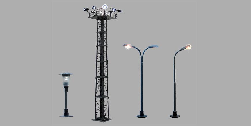 Lampy oświetleniowe z żarówkami i diodami LED